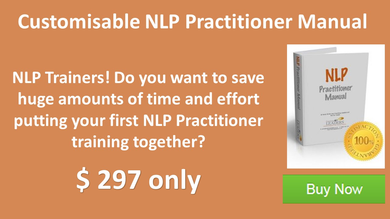 NLP practitioner manual